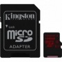 Kingston micro SDXC 128Gb Class 10 UHS-I U3 + ADP карта памяти (90/80 Mb/s)