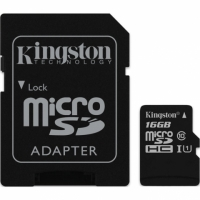 Kingston micro SDHC 16Gb Class 10 UHS-I + ADP карта памяти (45/10 Mb/s)