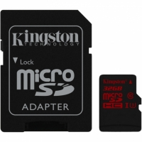 Kingston micro SDHC 32Gb Class 10 UHS-I U3 + ADP карта памяти (90/80 Mb/s)