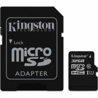 Kingston micro SDHC 32Gb Class 10 UHS-I + ADP карта памяти (45/10 Mb/s)