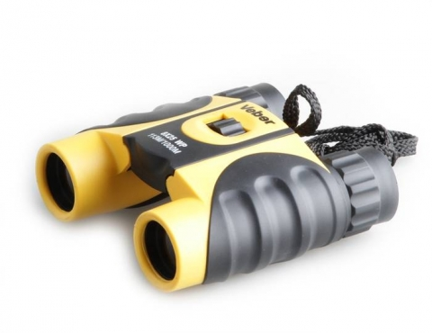 Veber 10x25 WP бинокль черный с желтым