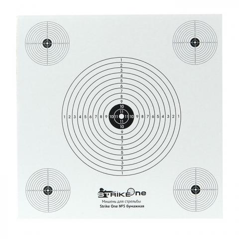 Strike One №5 мшень для стрельбы бумажная (1шт)